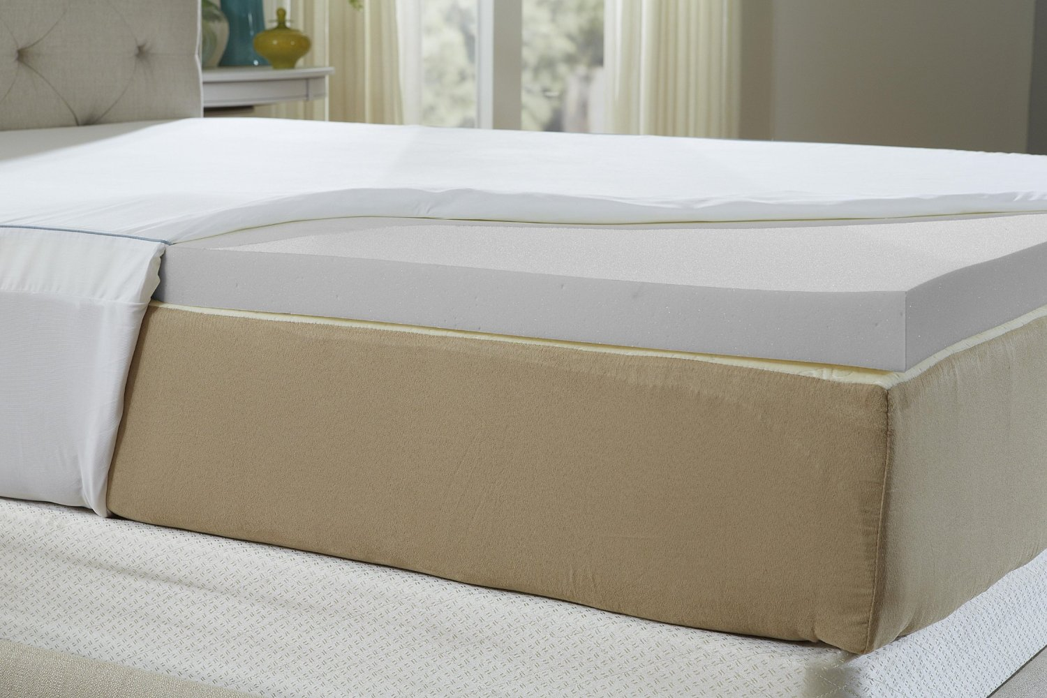 The cool iq 2 5 inch memory foam topper smart buy zen for Best foam mattress